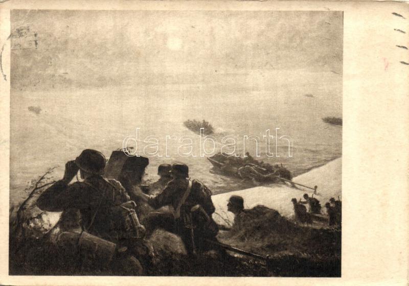 Crossing the river, soldiers, Átkelés a Dnjepr folyón