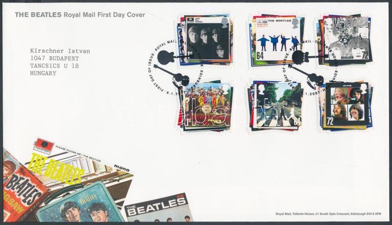 The Beatles set FDC, The Beatles lemezborítók sor FDC-n
