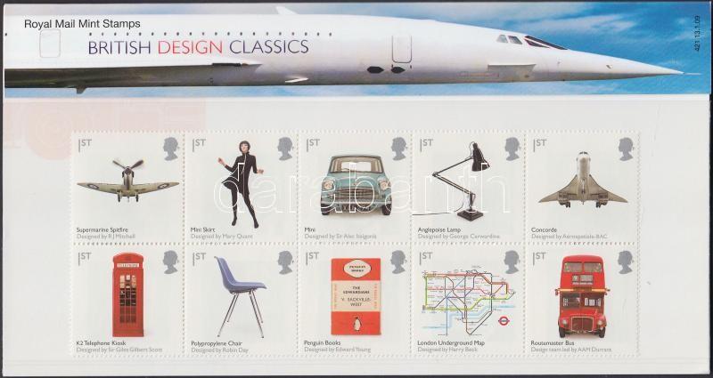 British design block of 10 in decorative holder, Brit design tízestömb díszcsomagolásban