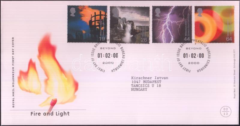 Fire and Light set FDC, Tűz és fény sor FDC-n