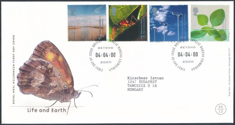 Life and Earth set FDC, Élet és föld sor FDC-n