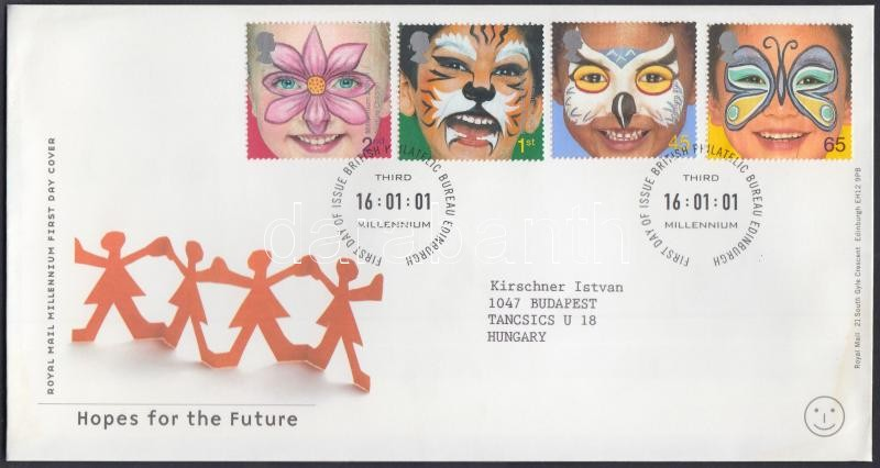 A jövő reménységei sor FDC-n, The hopes of the future set FDC
