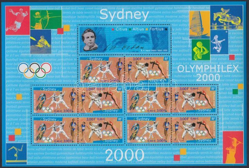 Summer Olympics, Sydney mini sheet, Nyári Olimpia, Sydney kisív