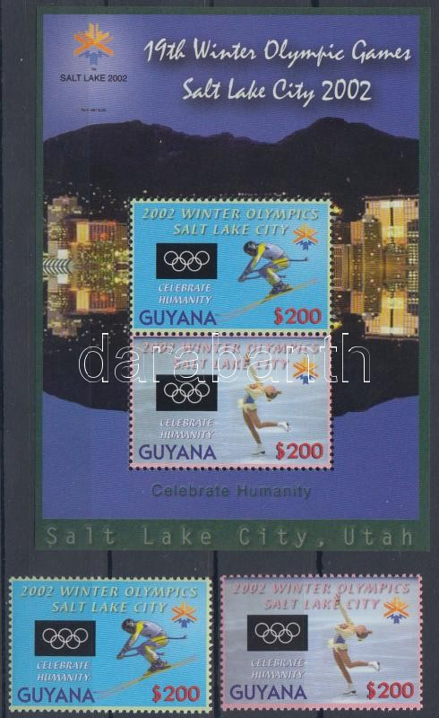 Winter Olympics, Salt Lake City set + block, Téli Olimpia, Salt Lake City sor + blokk
