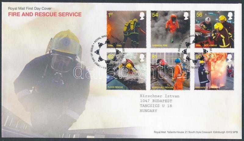 Fire and Rescue Service set on FDC, Tűzoltó és mentőszolgálat sor FDC-n
