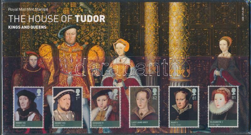 Tudors set in decorative holder, Tudor házi uralkodók sor díszcsomagolásban