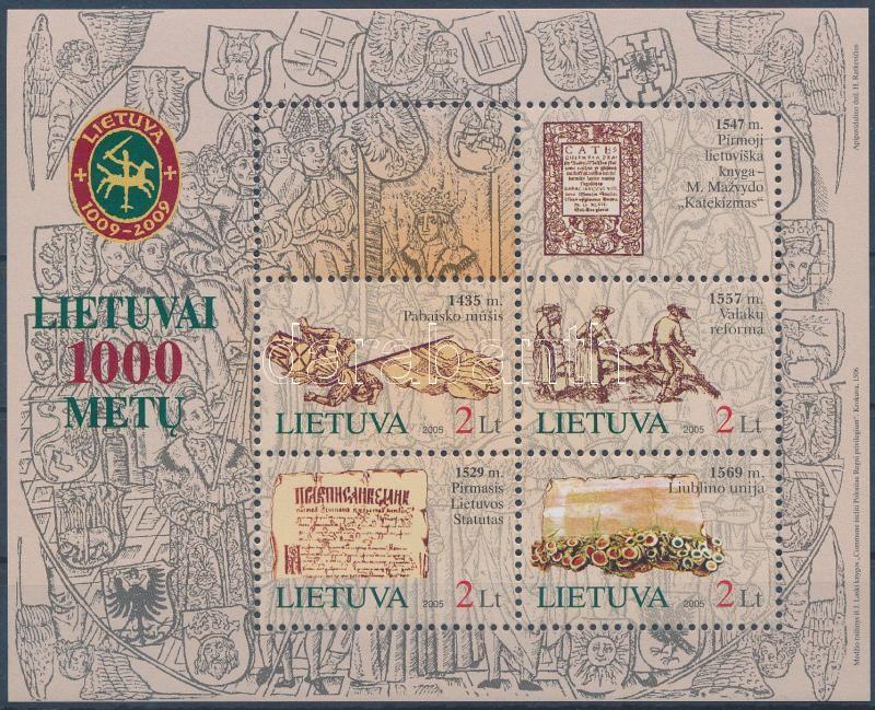 Lithuania Millennium block, 1000 éves Litvánia blokk