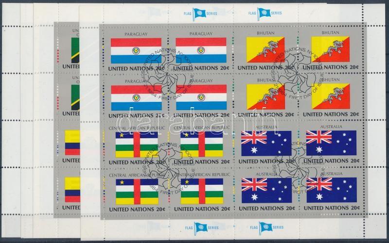 Flags of member states of UN minisheet set, ENSZ-tagállamok zászlói kisívsor