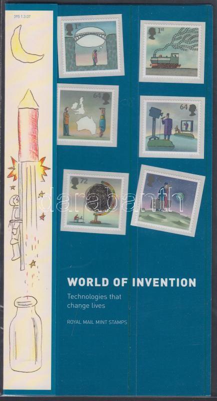 Inventions self-adhesive set in holder, Találmányok öntapadós sor díszcsomagolásban