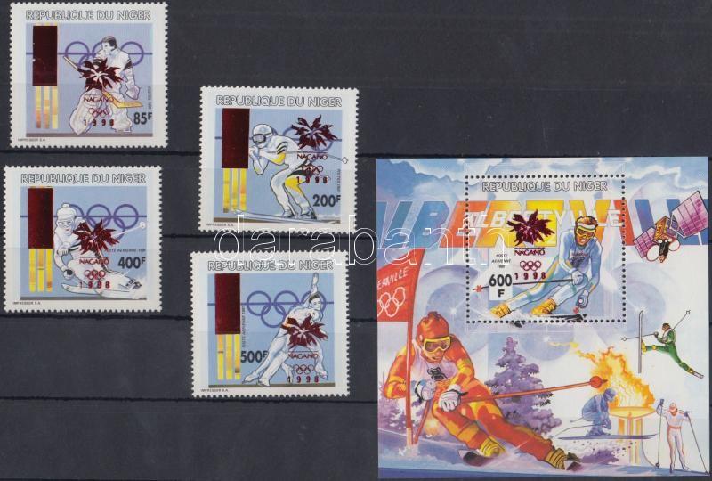 Winter Olympics, Nagano set + block, Téli Olimpiai Játékok, Nagano sor + blokk