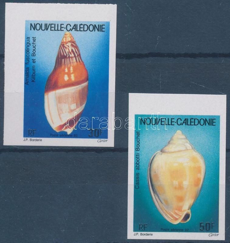 Sea snails set, Tengeri csigák sor (ívszéli + ívsarki vágott bélyeg)