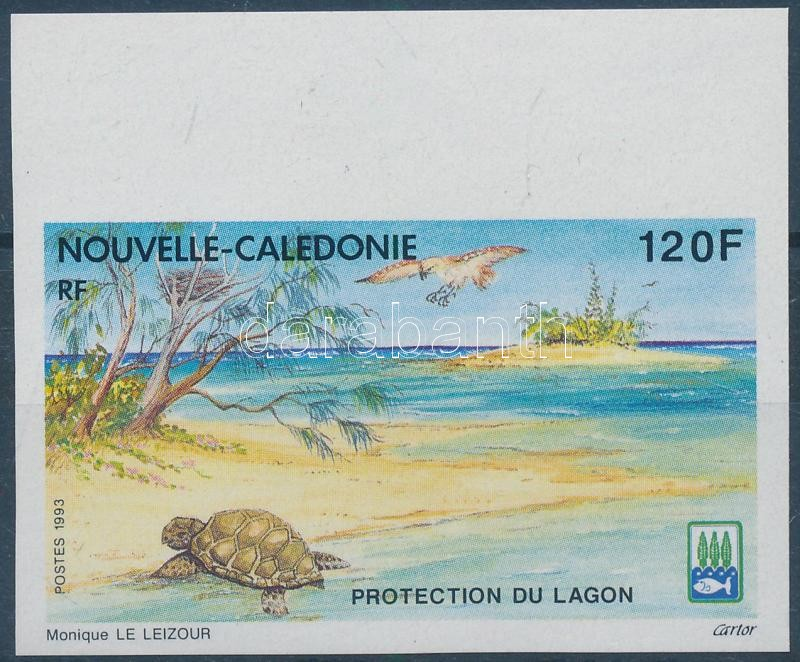 Protection of lagoons imperforated margin stamp, Lagúnák védelme ívszéli vágott bélyeg