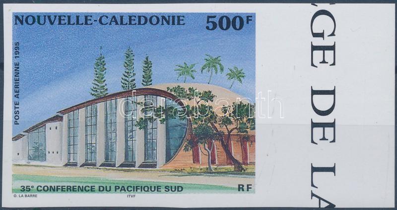 The South Pacific Conference Committee imperforated margin stamp, A dél-csendes óceáni bizottság konferenciája vágott ívszéli bélyeg