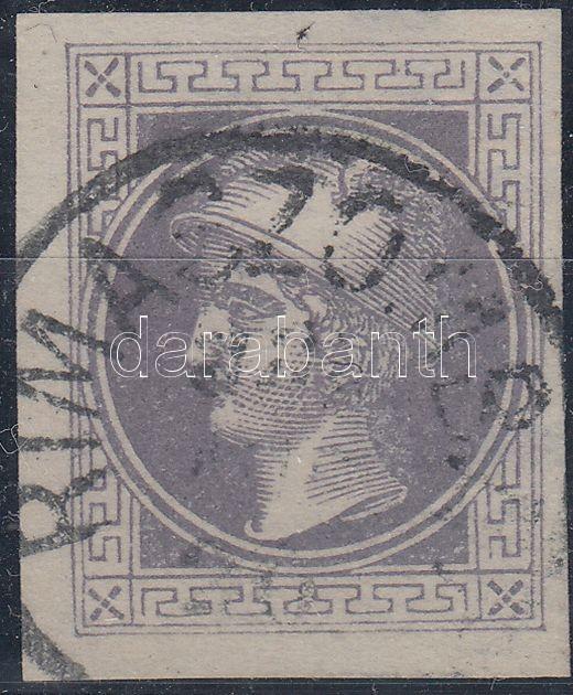 Newspaper stamp, violet, with watermark
