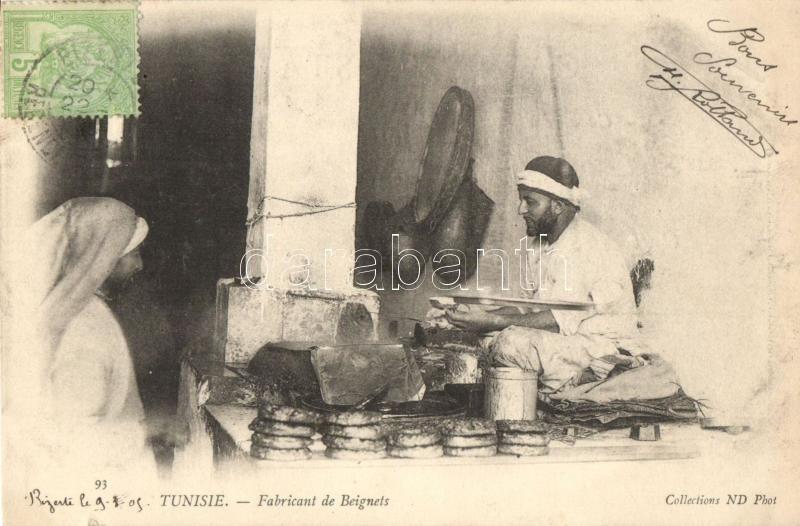 Tunisian folklore, donut maker, Tunéziai folklór, fánkkészítő