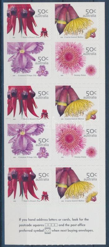 Wildflowers self-adhesive stamp booklet, Vadvirágok öntapadós bélyegfüzet
