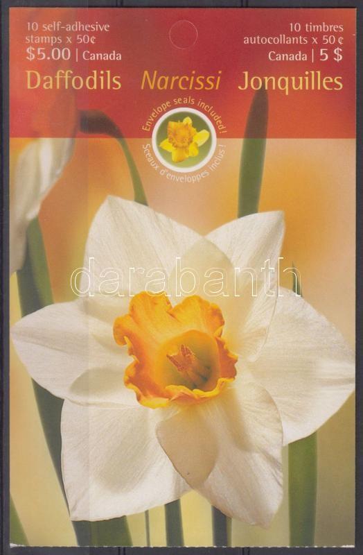 Daffodils self-adhesive stamp-booklet, Nárciszok öntapadós bélyegfüzet