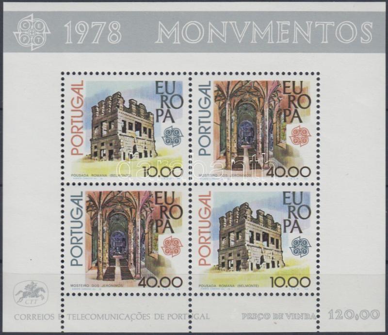 Europa CEPT, Historic Buildings block, Europa CEPT, Történelmi épületek blokk