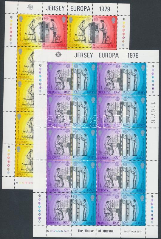 Europa CEPT, Post and telecommunications history mini sheet set, Europa CEPT, Posta és távközlés története kisív sor