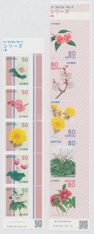 Flowers IV. set 2 stripes of 5, Virágok IV. sor 2 5-ös csíkban