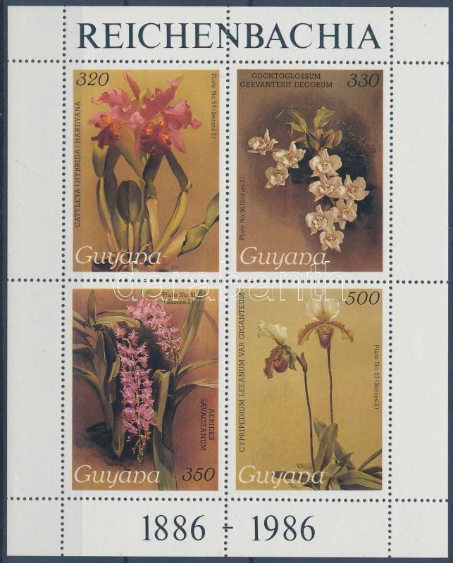Orchids minisheet, Orchideák kisív