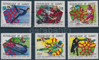 1987 Téli olimpia sor Mi 1154-1159 A