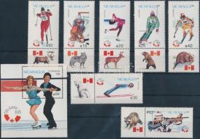 1988 Nyári Olimpia, Szöul szelvényes sor Mi 2843-2849 + blokk 176