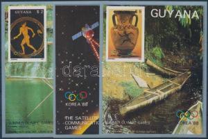 Summer Olympics, Seoul set imperforated blockform, Nyári Olimpia, Szöul sor vágott blokkformában