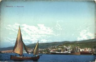 Trieste, port, ships
