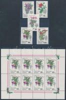 1993 Szobanövények sor + kisív Mi 296-300 (2 stecklap)