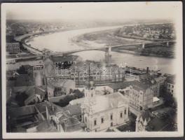 1934. augusztus 5. Szeged látképe a Tiszával, 9x12 cm