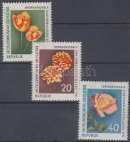 1961 Nemzetközi kertépítészeti kiállítás sor Mi 854-856
