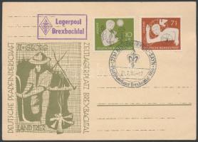 1956 Címzetlen cserkészlap cserkésztábori alkalmi bélyegzéssel
