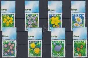 2007 Forgalmi: vadvirágok ívszéli sor Mi 1290-1297 I