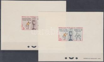 1965 Labdarúgás Mi 433-434 2 klf de Luxe blokk