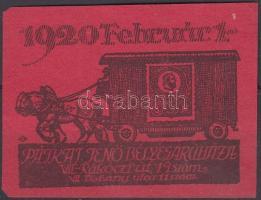 1920/2d Pátkai bélyegáruház (20.000) (sarokhiba)