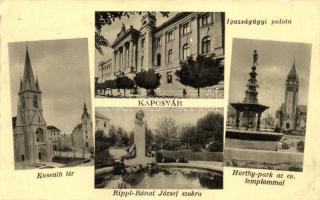 Kaposvár, Igazságügyi palota, Kossuth tér, Horthy park, Rippl-Rónai József szobor (fa)