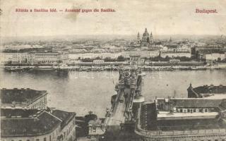 Budapest, Bazilika felé kilátás (ázott / sarok)