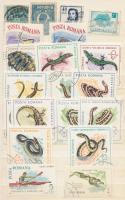 Kis berakó benne néhány száz román bélyeg a klasszikusoktól, sok modern sor stb.