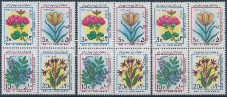 Flowers 3 blocks of 4, Virágok 3 db négyestömb