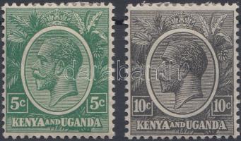Kenya és Uganda 1925 Forgalmi értékek Mi 22-23