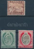 1904 Forgalmi értékek Mi 24-26