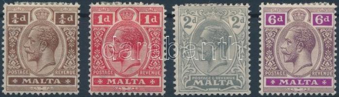 1921 Forgalmi értékek Mi 56, 58-59, 61