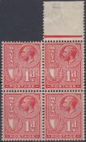 1926 Forgalmi négyestömb Mi 117 (2 érték postatiszta)