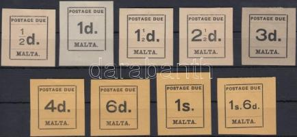 1925 Portó értékek Mi 1-3, 5-10
