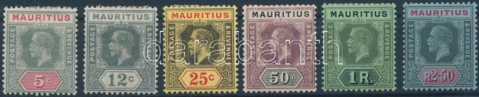 1912/1923 Forgalmi sor magas értékek nélkül Mi 146-151