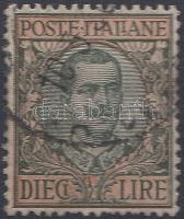 1910 III. Viktor Emanuel király Mi 99 (néhány rövidebb fog)