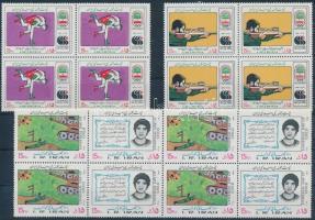 Seoul Asian Games block of 4 + World Day for Children block of 8 set, Ázsiai játékok Szöul négyestömb sor + Gyermekek világnapja 8-as tömb sor