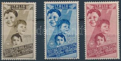 1937 Légiposta bélyegek Mi 571, 573, 575