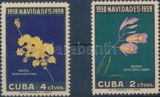 1958 Karácsony: orchideák sor Mi 613-614
